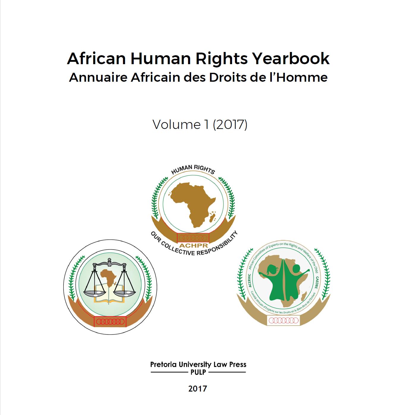 Anuário Africano de Direitos Humanos 2017 Volume 1