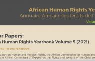 APPEL À CONTRIBUTIONS : ANNUAIRE AFRICAIN DES DROITS DE L'HOMME VOLUME 5 (2021)