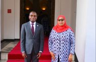 THE PRESIDENT OF THE AFRICAN COURT PAID A COURTESY CALL ON H.E THE PRESIDENT OF THE UNITED REPUBLIC OF TANZANIA