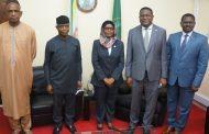 نائب الرئيس جمهورية نيجيريا يزور المحكمة الأفريقية
