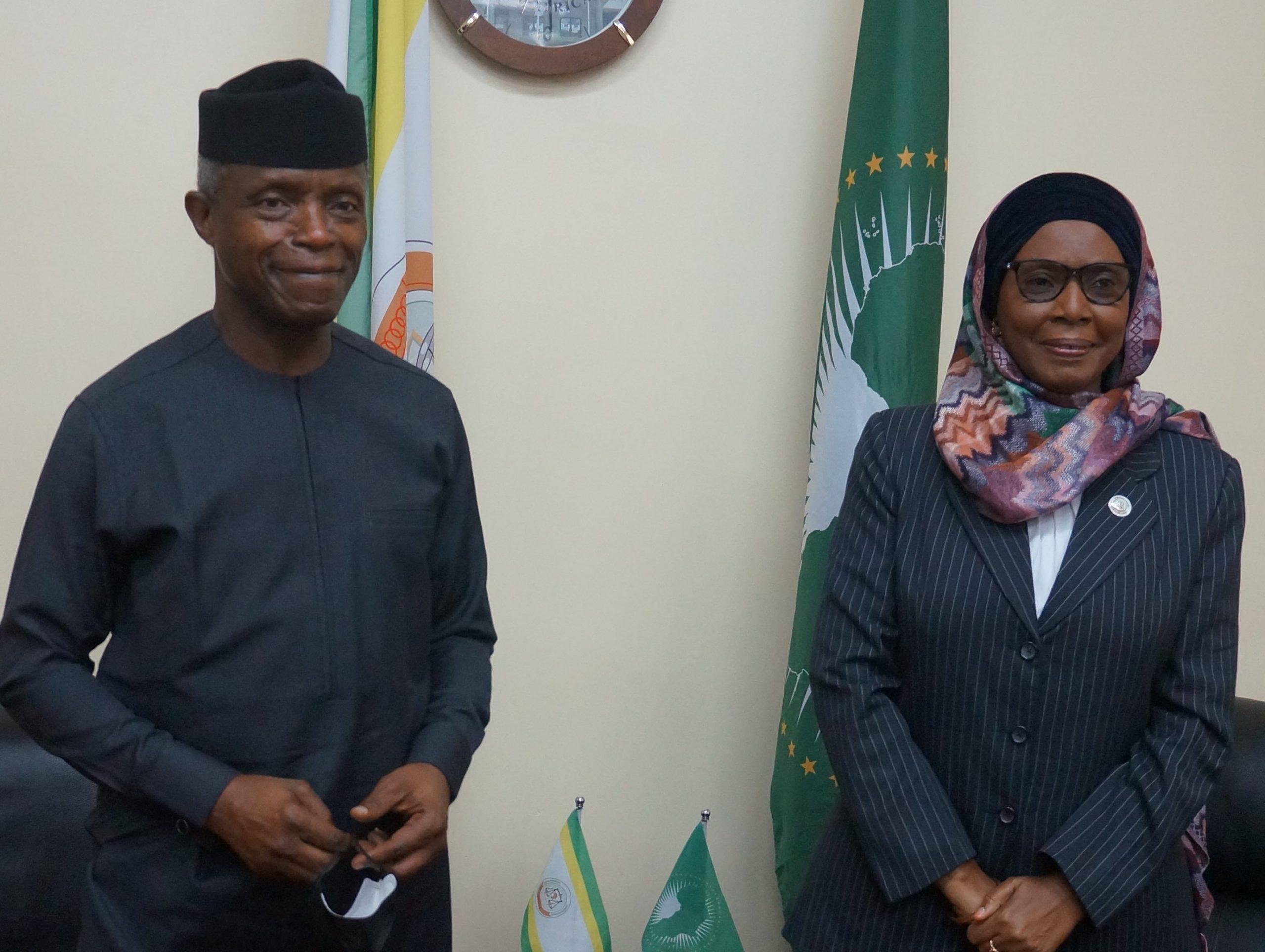 فخامة السيد نائب رئيس جمهورية نيجيريا في المحكمة الأفريقية